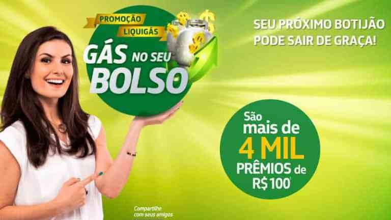Promoção Liquigás Gás no Bolso - Concorra a milhares de prêmios