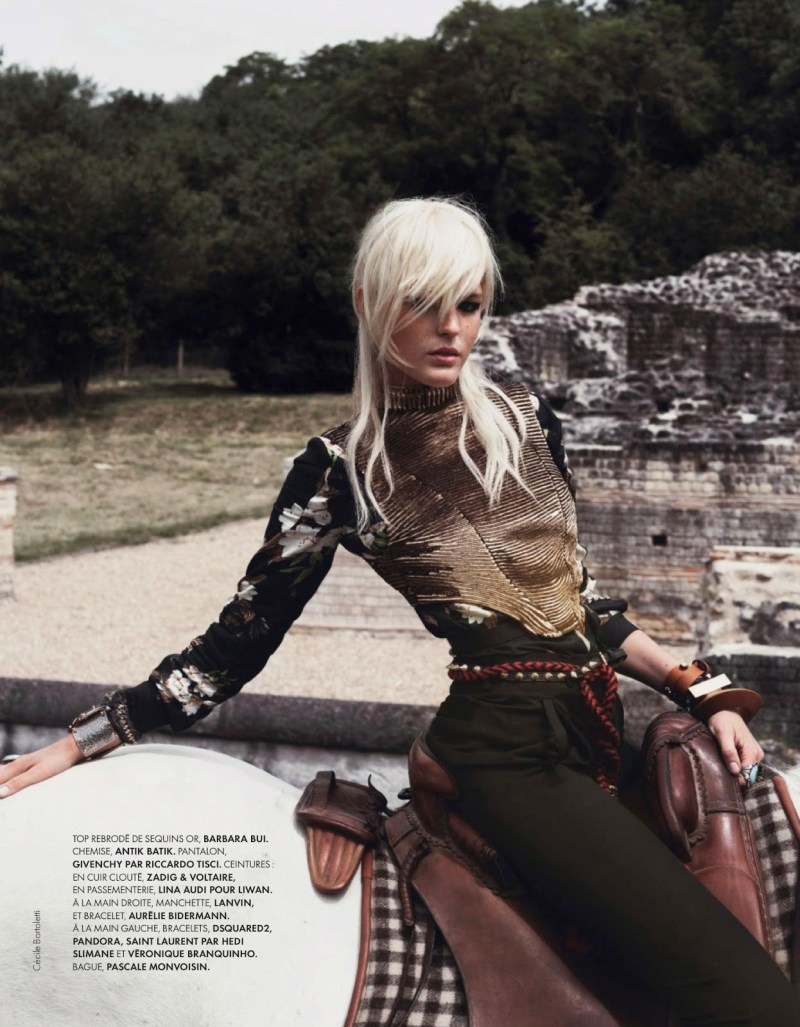 Linnea Regnander by Cécile Bortoletti for ELLE France, august 2013