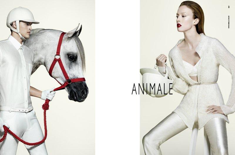 www.pegasebuzz.com | Raquel Zimmermann & Romulo Pires for Animale Fall Winter 2011
