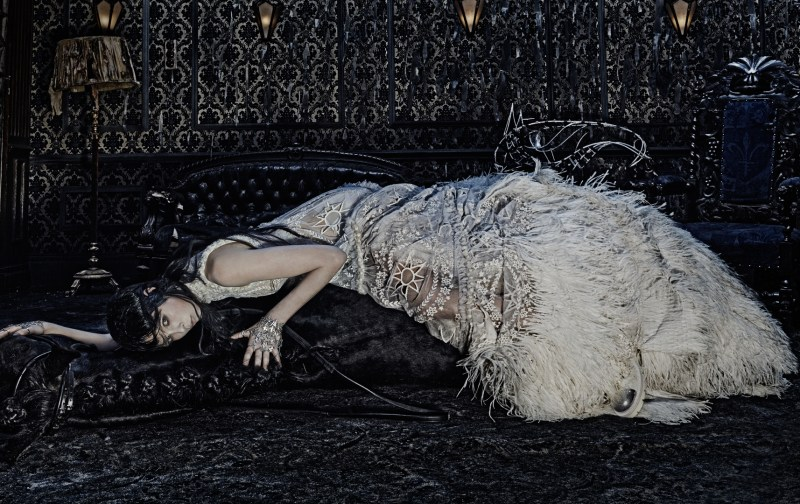 www.pegasebuzz.com   Edie Campbell by Steven Klein for Alexander Mc Queen AW 2014