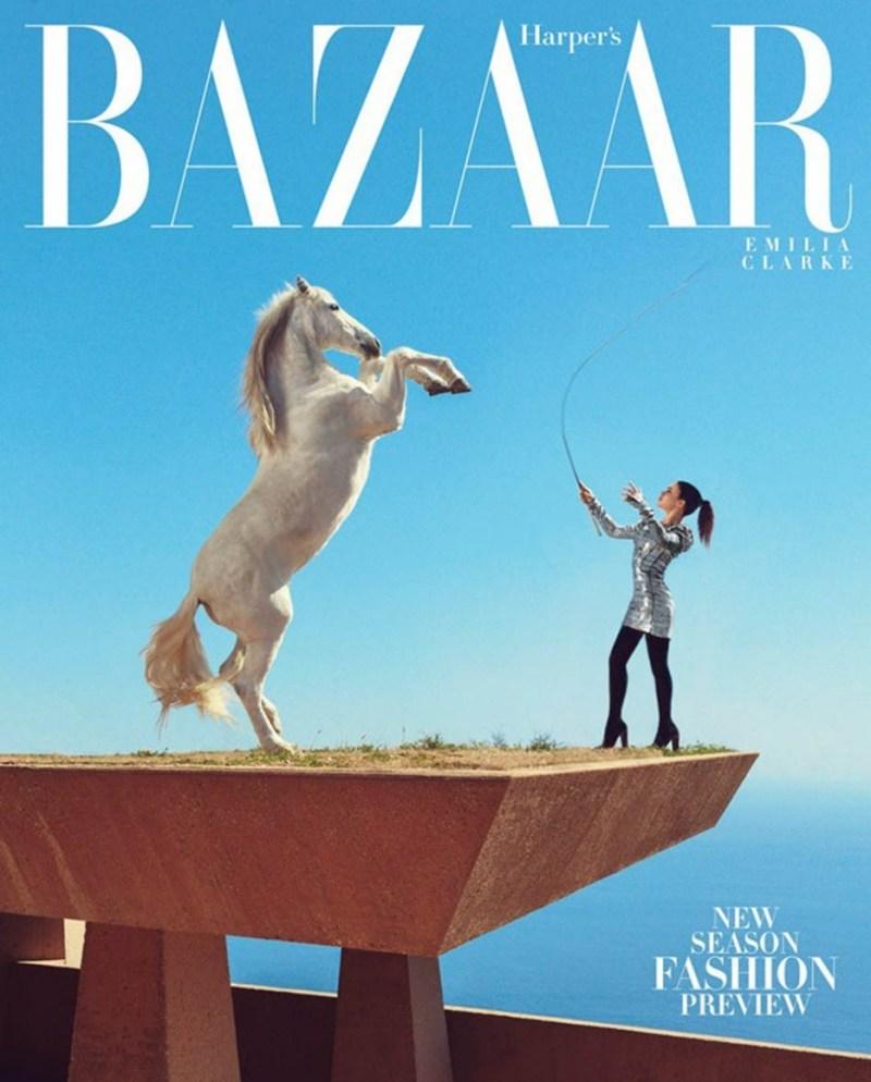 www.pegasebuzz.com | Emilia Clarke by Norman Jean Roy for Harper's Bazaar, june-july 2015