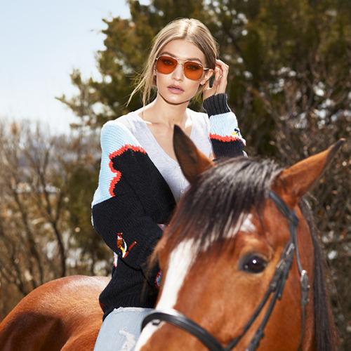 www.pegasebuzz.com | Gigi Hadid for Vogue Eyewear, collection 2017