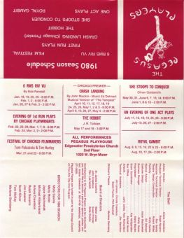 Pegasus 1980 Season Card