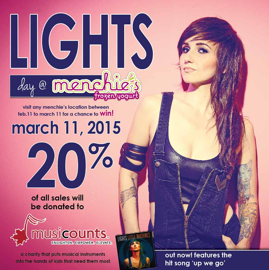 Help Support MusiCounts with Lights and Menchie's