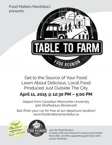 #FoodReunion – Table To Farm #exploreMB