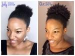 Natural Hair Growth Comparison