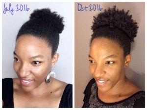 Natural Hair Growth Comparison