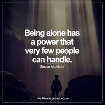 Can you be alone with yourself?