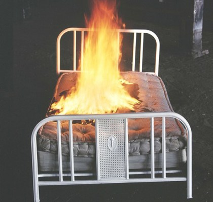 How do we sleep when our beds are burning