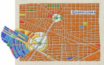 Map of Guadalajara, Mexico