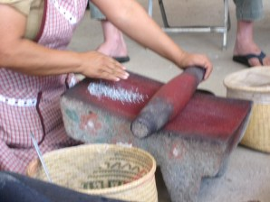 7.12 grinding cochineal bugs preparing them for dye