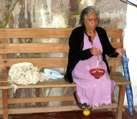 8.9 old woman spinning