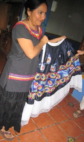 Artist and skirt
