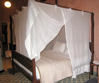 01.4 our bed with mosquito net