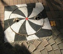 03.5 black and white manhole cover