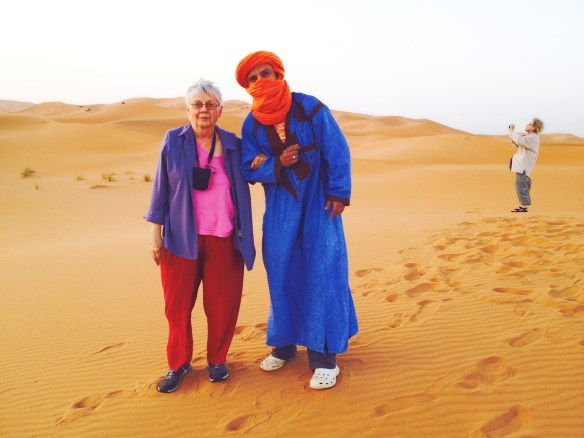 This man helped me climb the sand dunes in Morocco.
