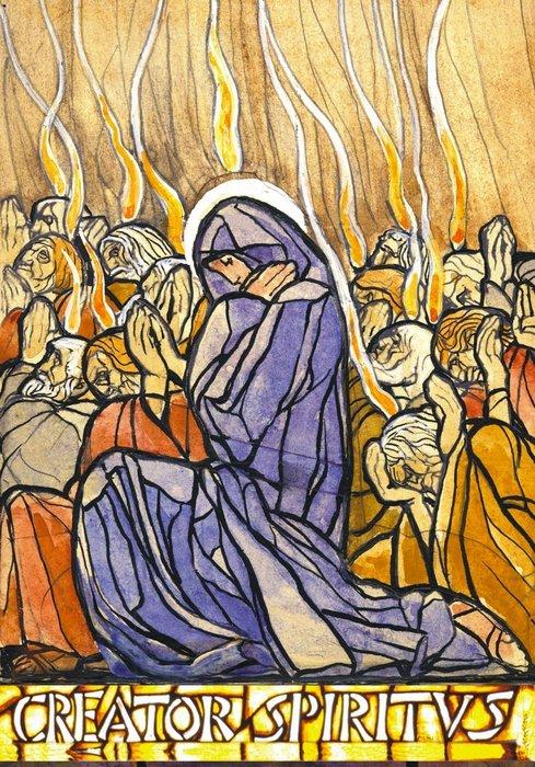 Pentecoste di Duilio Cambellotti icona dell'Educhiamoci alla Corresponsabilità (1/6)