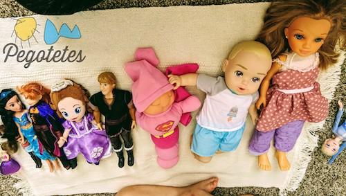 Princesas, muñecos y bebés ordenados por tamaño