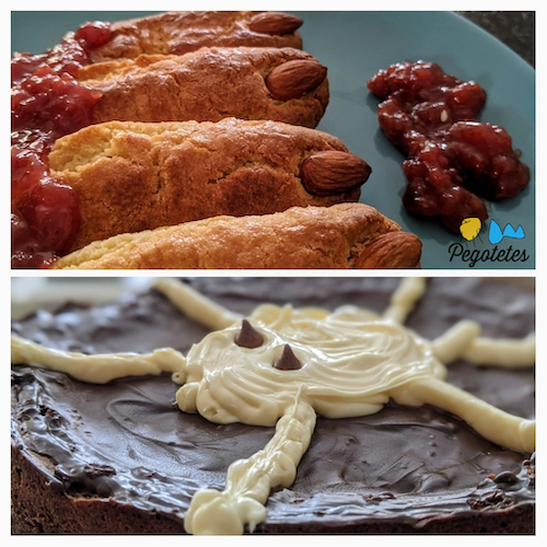 Dedos de ogro y tarta de araña.
