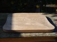 The Elm seat blank cut out and planed.