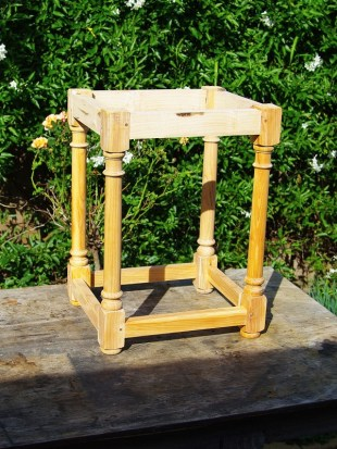 The Yew stool frame in-the-white…