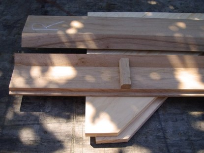 The end boards and stile/side assemblies.