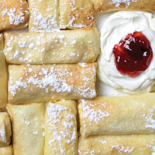 Cheese Blintzes Falafel