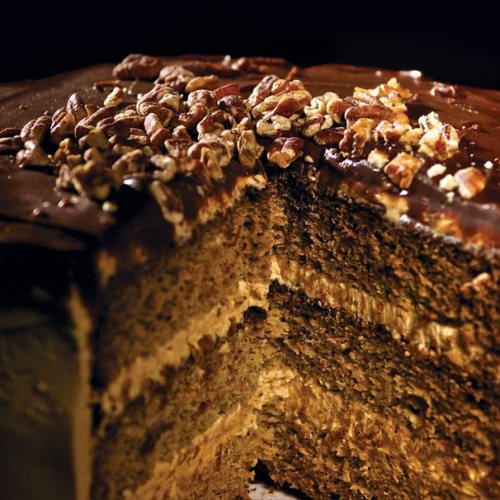 Peanut Butter Banana Cake by Chef Darryl Riddle of Le Garage Café