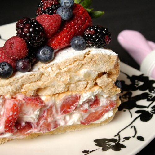 Strawberry Pavlova Pastry by Chef Melissa Buiskool-Leeuwma of Baked Expectations