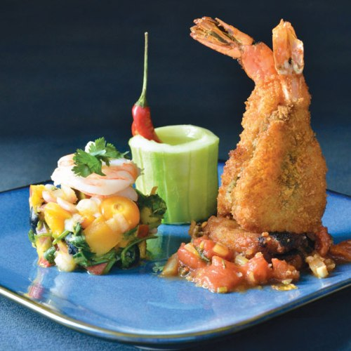 Prawns Two Ways by Chef/owner Dario Pineda-Gutierrez of Cafe Dario