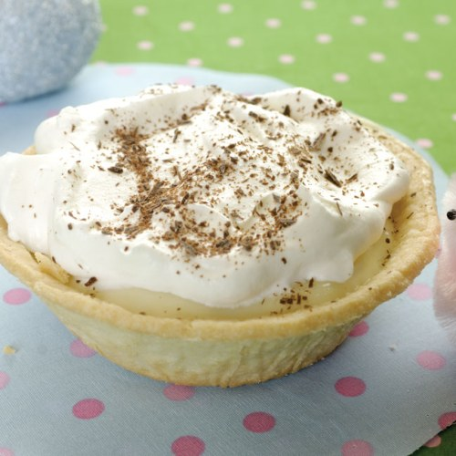 Personal Banana Cream Pies by Owner Tomas Sohlberg of Stella's Bakery Cafe