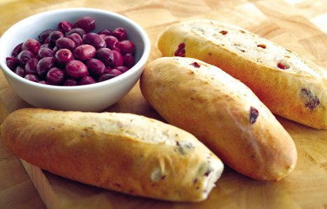 Olive Rosemary Baguettes by Vaughn Barkman of Tall Grass Prairie Bakery