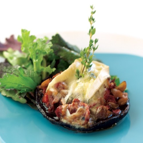 Stuffed Portobello Mushroom Appetizer by Chef Perry Scaletta of La Scala