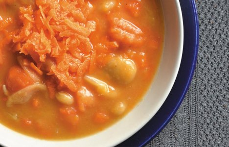 Carrot and Butter Bean Soup by Chef/owner Maria, Bernstein's Deli