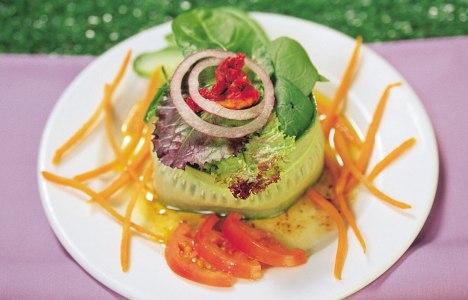 Rabbit Food Salad by Chef Jonathan Buffie and Pastry Chef Doug Krahn, Breadworks