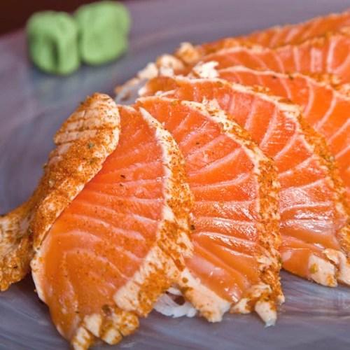 Blufish - cajun seared salmon