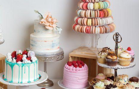 Sweets display at Pinky's Bakeshop Winnipeg