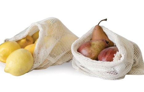 Cotton produce bags at June Home Supply