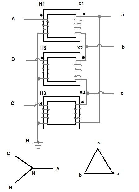 Hammond Delta Wye Transformer Wiring Diagrams Wye-Delta