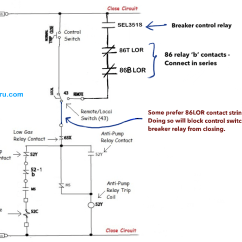 Interposing Relay Panel Wiring Diagram Flow Chart Meanings Power Circuit Breaker Operation And Control Scheme Close