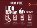 Cara Vote LIDA Indonesia di Shopee