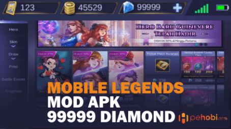 game mobile legends mod apk 99999 diamond terbaru 2019