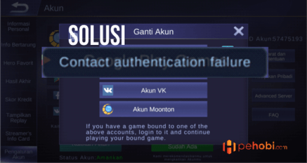 Mengatasi Contact Authentication Failure Mobile Legends