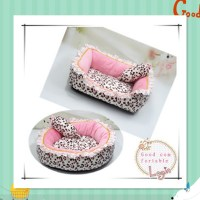 Korea Style Princess Dog Cat Bed Pink Leopard Pet House ...