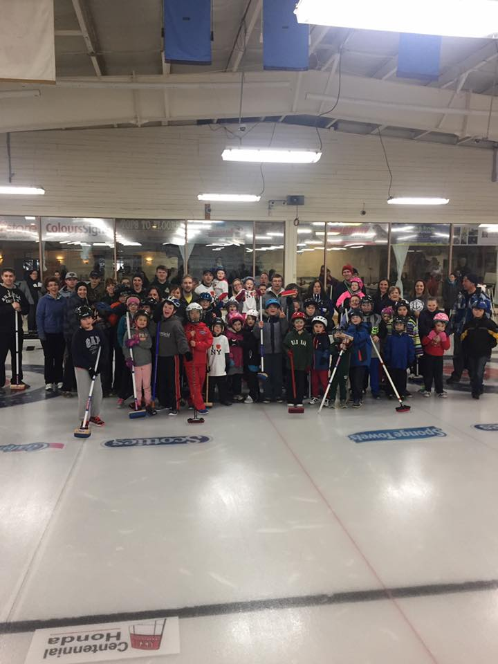Curling 101 at the Silver Fox draws over 160 kids, parents