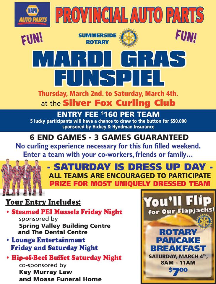 Mardi Gras Funspiel @ Silver Fox Curling and Yacht Community Complex