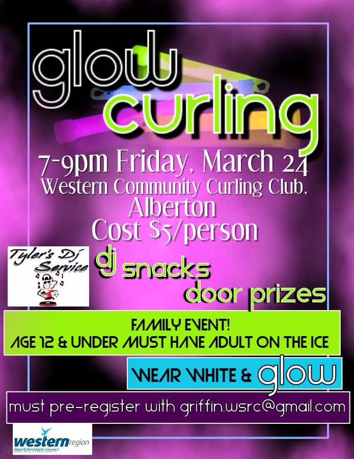 Glow Curling @ Western Community Curling Club | Alberton | Prince Edward Island | Canada