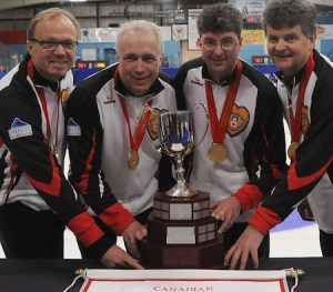 Colleen Jones skipping women's rink, Souris PEI native Ian MacAulay on men's team at World Seniors (Curling Canada)