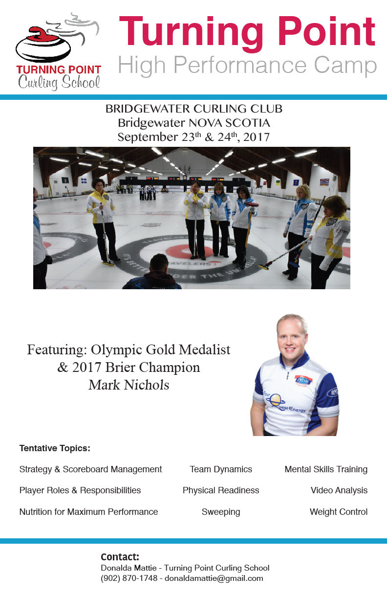 Turning Point High Performance Camp @ Bridgewater Curling Club | Bridgewater | Nova Scotia | Canada