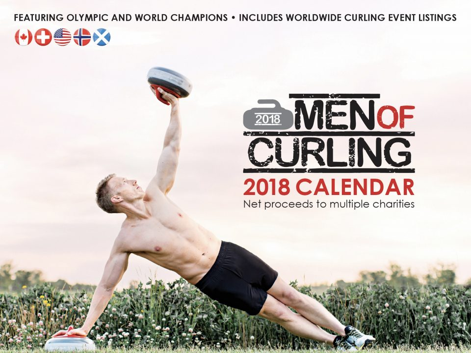 PEI's Brett Gallant in Men of Curling Calendar, raising funds for KidSport PEI (The Curling News)